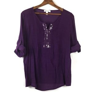 Dress Barn Embellished Tunic Top